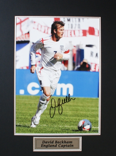 David Beckham - Signed England Photograph