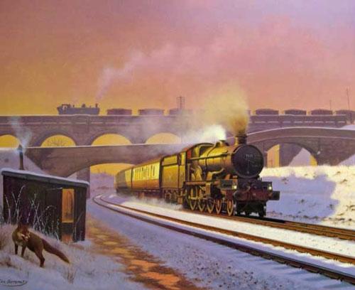 St Fagans Steam in Winter