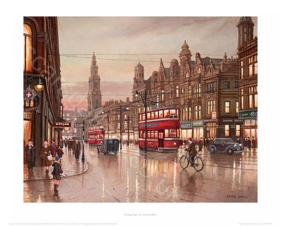 Evening Papers Leeds a Limited edition giclee print by Steven ...