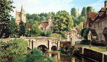 On  English Summer- Castle Combe