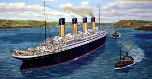 The Titanic at Queenstown