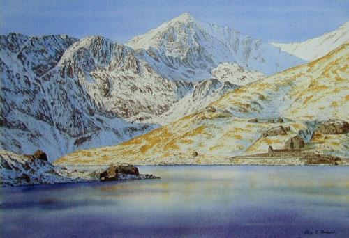 Snowdon from Llyn Llydaw