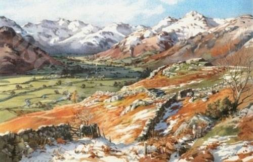 Clear Day in Great Langdale - Large Print