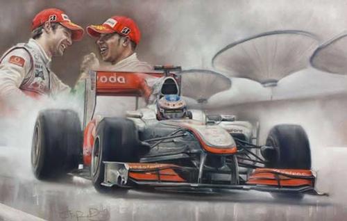 Victory In Shanghai 2010 - Button / Hamilton