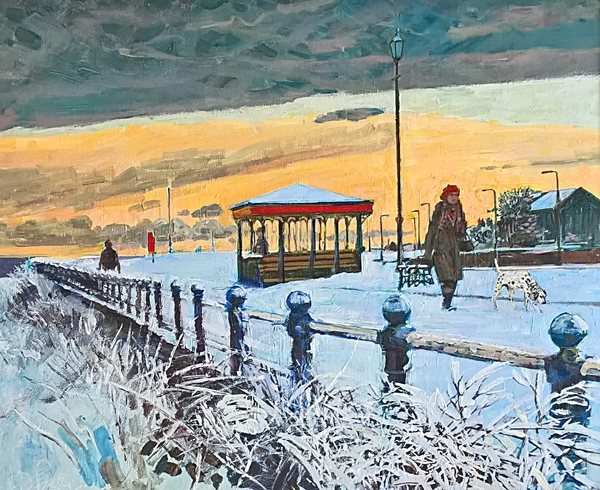 A wintery stroll on the front - Lytham