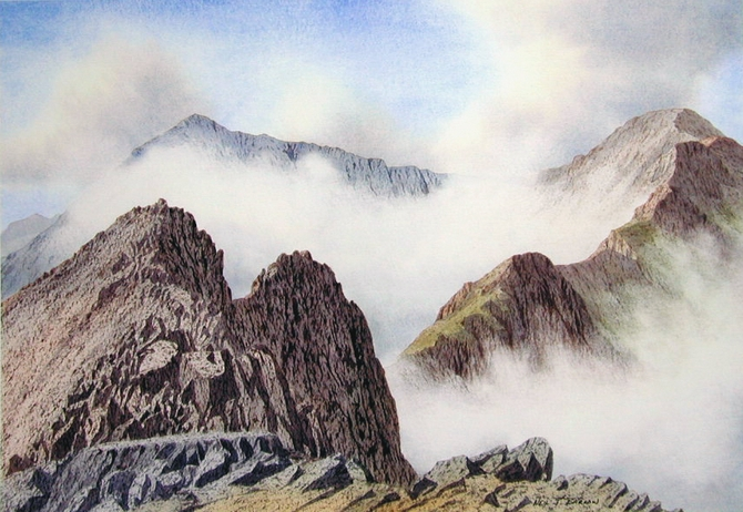 Autumn Mist,Crib Goch