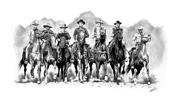 Posse The Magnificent Seven A Limited Edition Print By