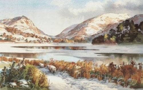 Snow at Grasmere - Small Print