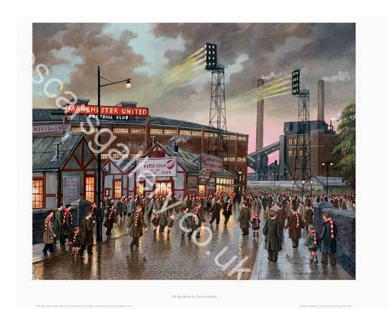 The Big Match - Manchester United Ground 1958 Old Trafford Football Ground