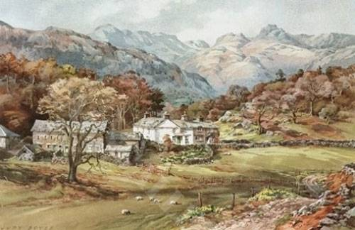 Langdale Pikes Loughrigg - Medium Print