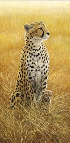 Alert-Leopard and Cub