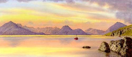 The Cuillan across Loch Scavaig