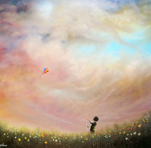 The Secret of Happiness is  Freedom on Canvas
