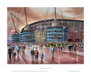 Derby Day - Manchester City Etihad Stadium MOUNTED